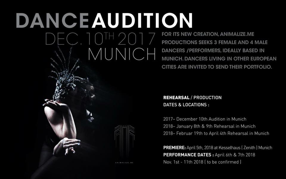 Audition Notice Carta Blanca Dance