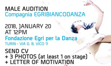 Audition Notice Company EgriBiancoDanza