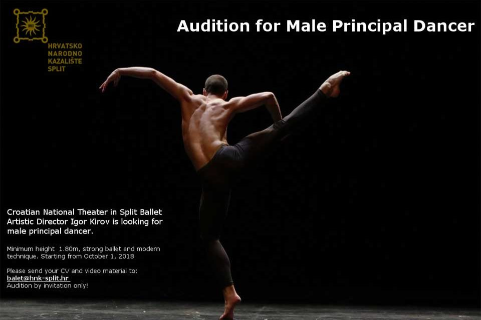 Audition Notice Croatian National Theatre