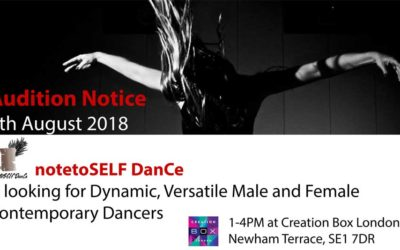 Audition Notice notetoSELF DanCe Company