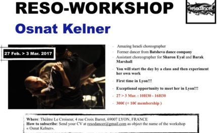 Reso-Workshop Osnat Kelner Ex-Batsheva Ensemble Dancer