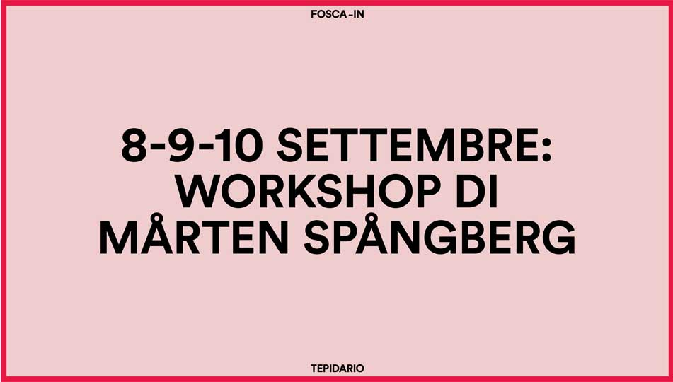 Marten Spangberg Workshop