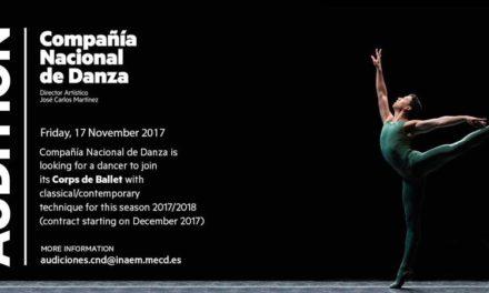 Audition Notice Compania Nacional de Danza