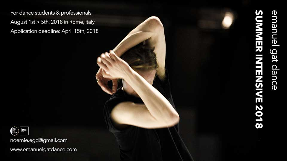 Emanuel Gat Dance Summer Intensive 2018