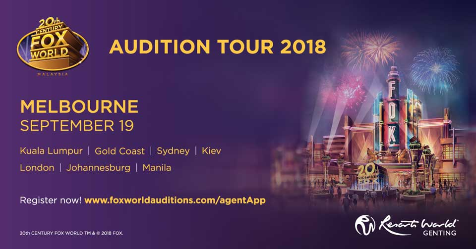 20th Century Fox World - Melbourne Auditions