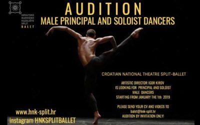 Audition Notice Croatian National Theatre Split / Ballet