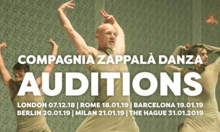Audition Notice Compagnia Zappala Danza