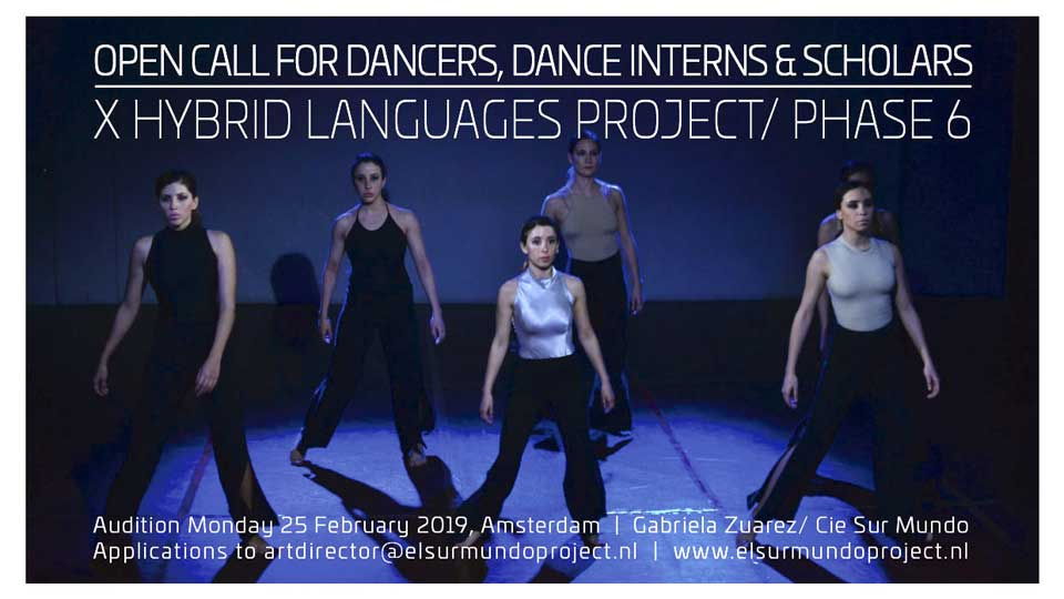 Auditioning Contemporary Dancers (background in Tango/ folklore) Amsterdam