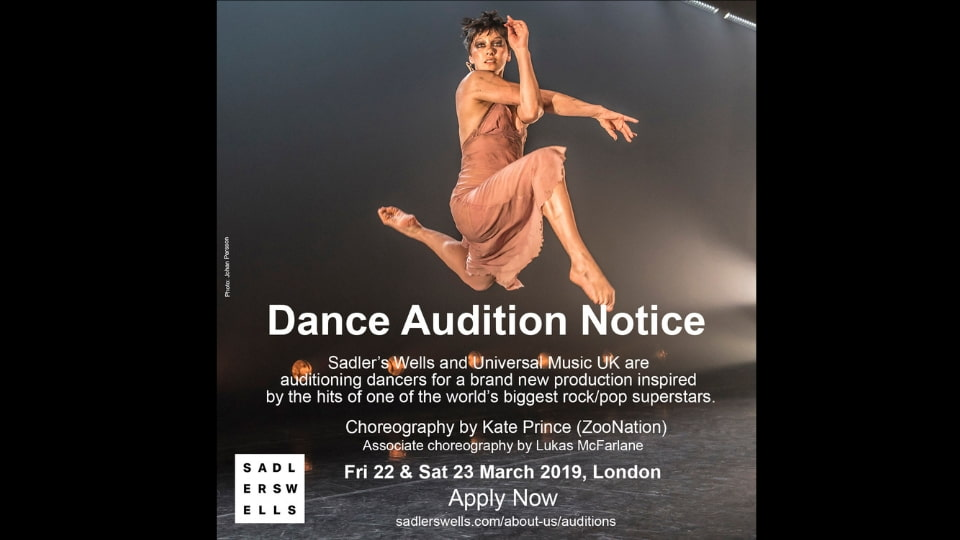 Audition Notice Sadler's Wells and Universal Music UK