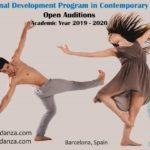 Auditions 360GRADOS Danza Professional Development Program in Contemporary Dance