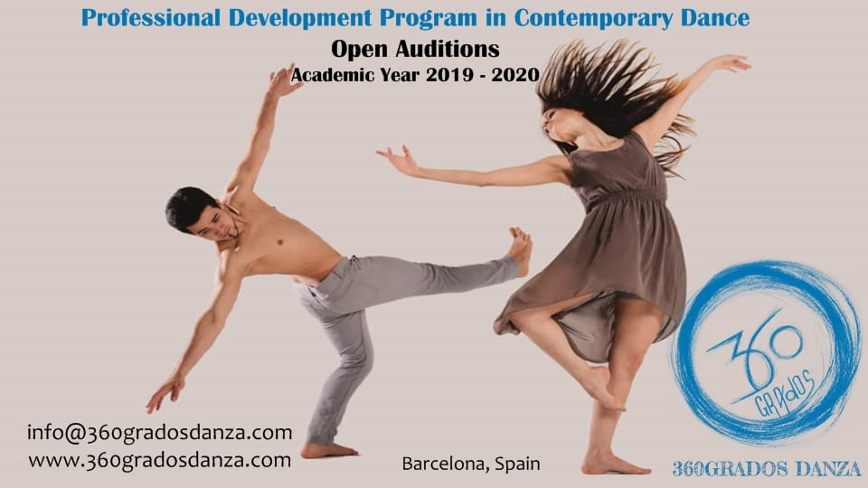 Auditions 360GRADOS Danza Professional Development Program In Contemporary Dance