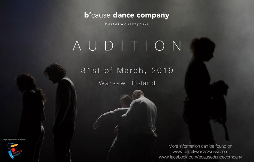Audition Notice  B'cause Dance Company | Bartek Woszczynski