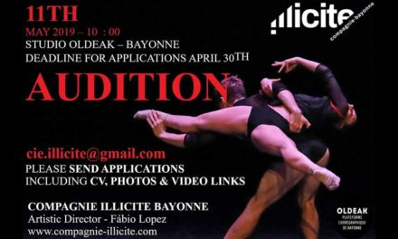 Audition Notice Compagnie Illicite Bayonne