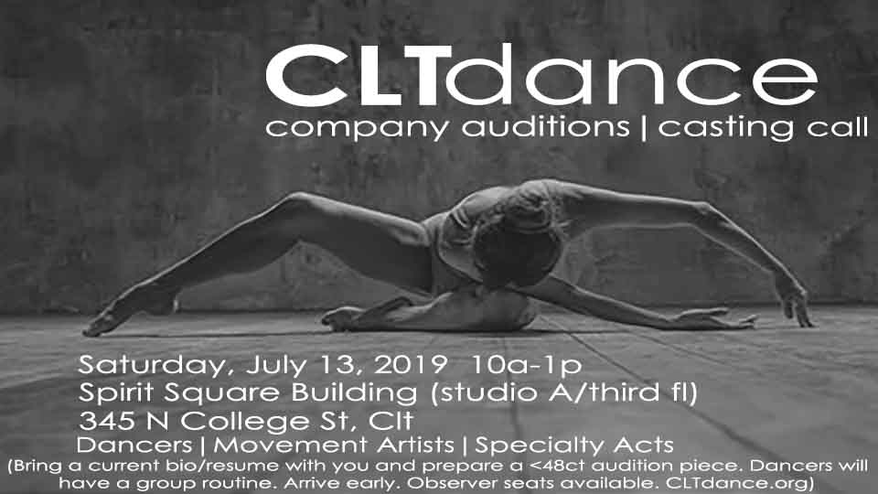 Audition Notice Charlotte Dance Company