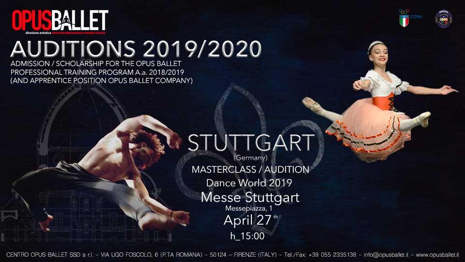 Opus Ballet Centre Masterclass/Audition In Stuttgart (Germany)