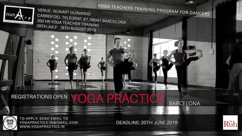 Yoga Training Program for Dancers Barcelona