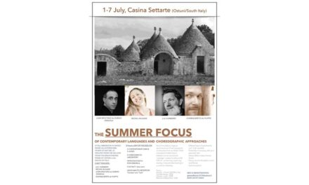The SUMMER FOCUS Intensive Workshop Contemporary Languages and Choreographic Approaches