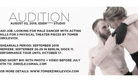 Audition Notice Tomer Zirkilevich