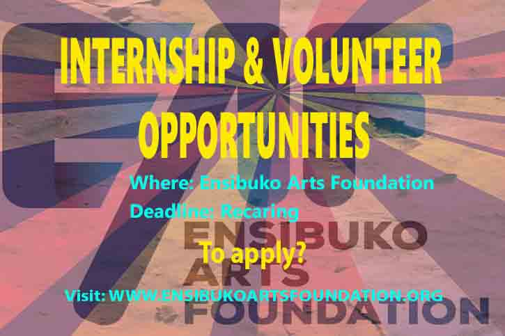 Volunteer Opportunities Ensibuko Arts Foundation