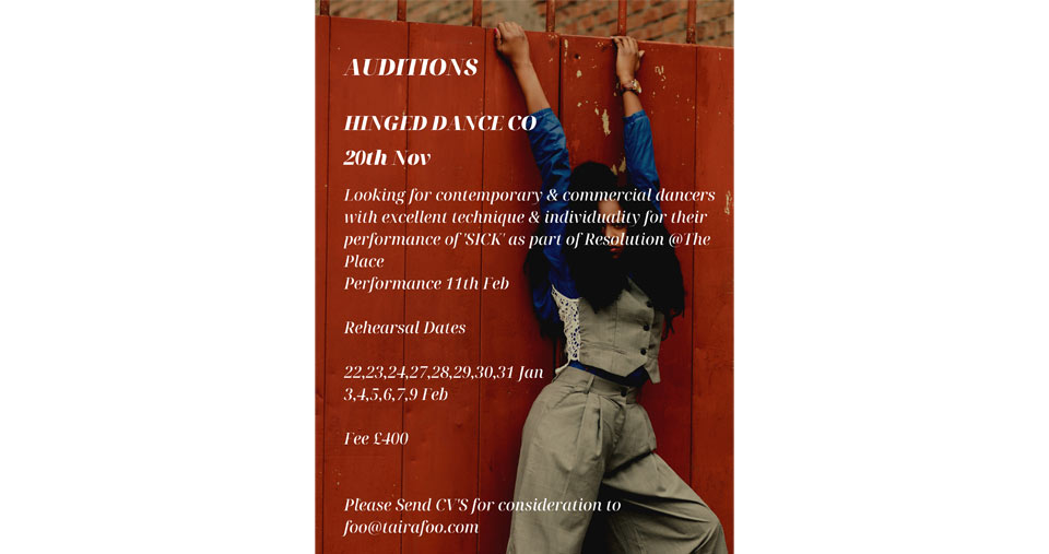 Hinged Dance Co Are Looking For Dancers