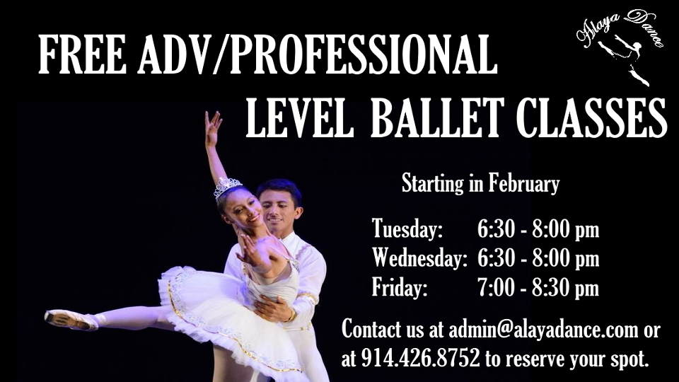 Alaya Dance Is Offering Free Adv/Pro Ballet Classes
