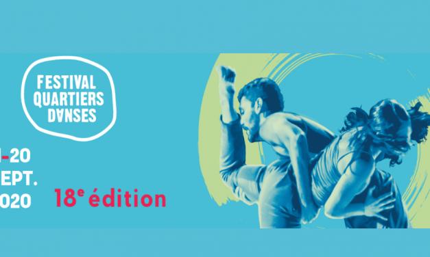 Festival Quartiers Danses- Online Dance Films September 11-20, 2020