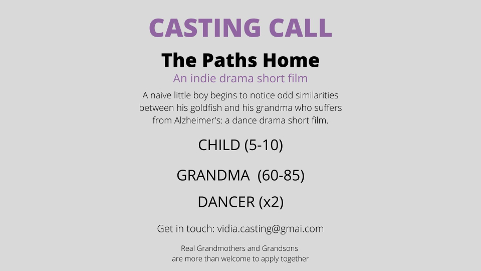 Looking For Contemporary Dancers For A Film