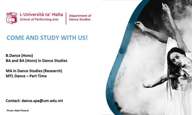 Applications and Video Auditions  The University of Malta Department of Dance